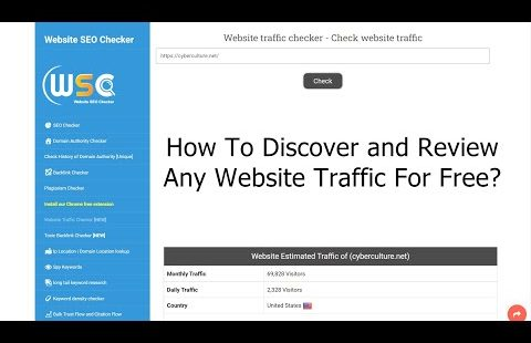 How To Discover and Review Any Website Traffic For Free?