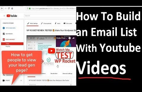 How To Build an Email List With Youtube Videos FREE!