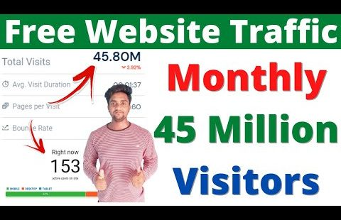 *45 Million Monthly Visitors* Free Website Traffic   Website Traffic   Organic Website Traffic 2021