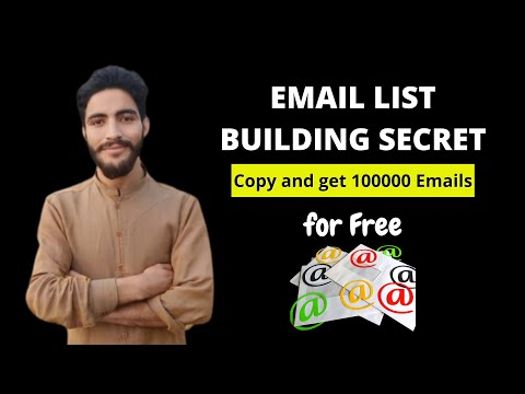 How to build an Email List from Scratch fast and for free