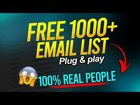 How To Build A Free Email List  For Affiliate Marketing (You've Never Seen This Before) $100/Day.